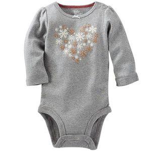 OshKosh B'gosh Heart Long Sleeve Bodysuit Baby